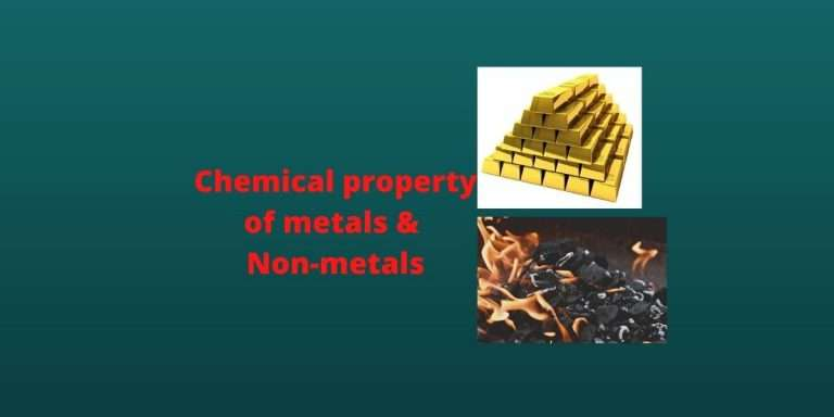 chemical propertis of metal and non-metals