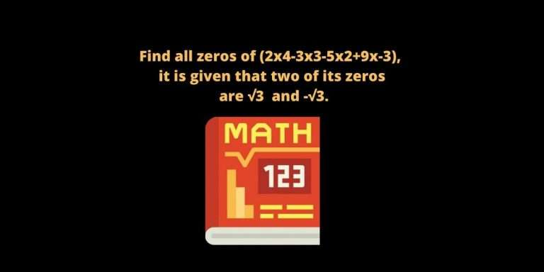 find all the zeros of the polynomial
