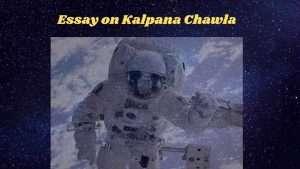 essay on Kalpana Chawla