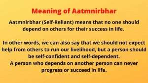 Essay on Aatm Nirbhar Bharat