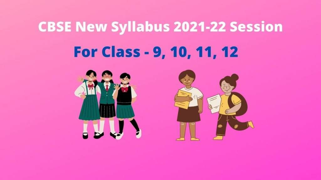 cbse new syllabus
