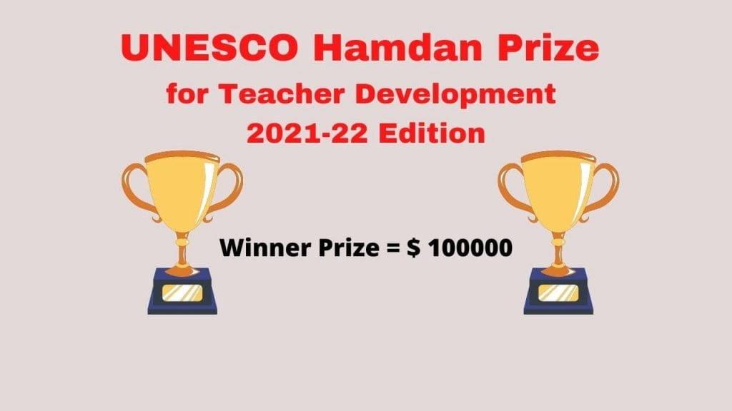 UNESCO Hamdan Prize for Teacher Development