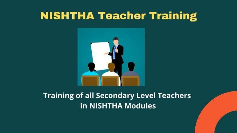NISHTHA Teacher Training Module