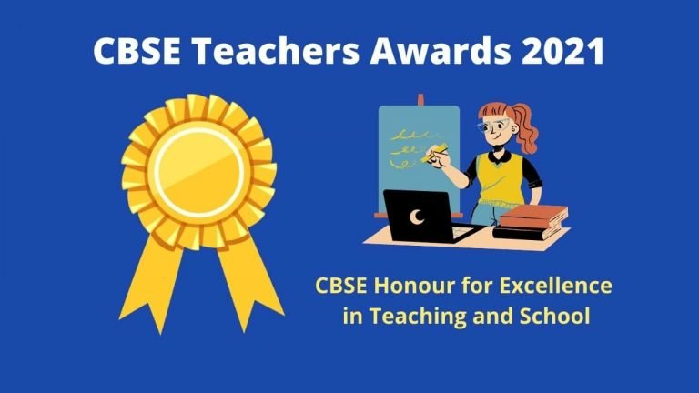 CBSE Teacher Awards 2021