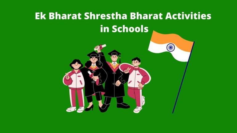 Ek Bharat Shrestha Bharat Activities in Schools