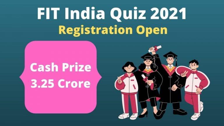 Fit India School Quiz 2021
